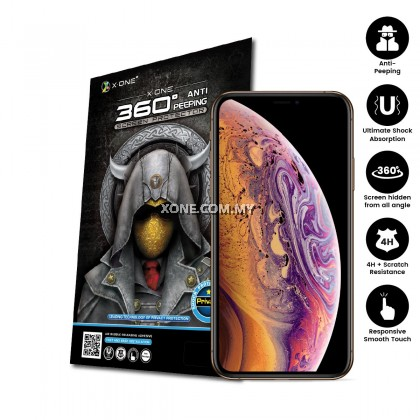 "Apple iPhone XS ( 5.8"" ) 360 Privacy + Anti Shock Screen Protector ( Matte )"