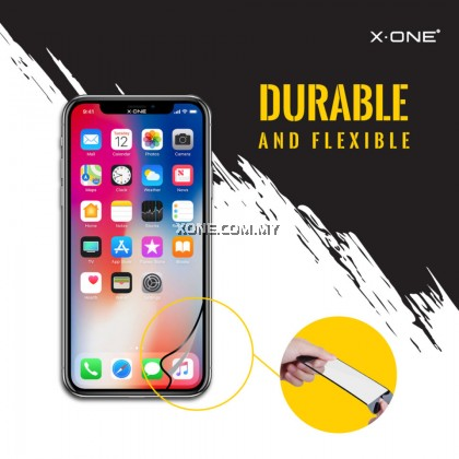 "Apple iPhone XS ( 5.8"" ) X-One Full Coverage Extreme Shock Eliminator Screen Protector ( Black )"