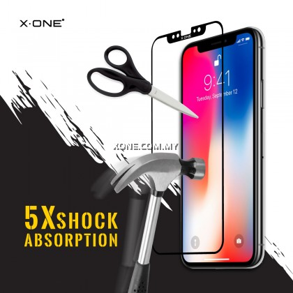 "Apple iPhone XR ( 6.1"" ) X-One Full Coverage Extreme Shock Eliminator Screen Protector ( Black )"