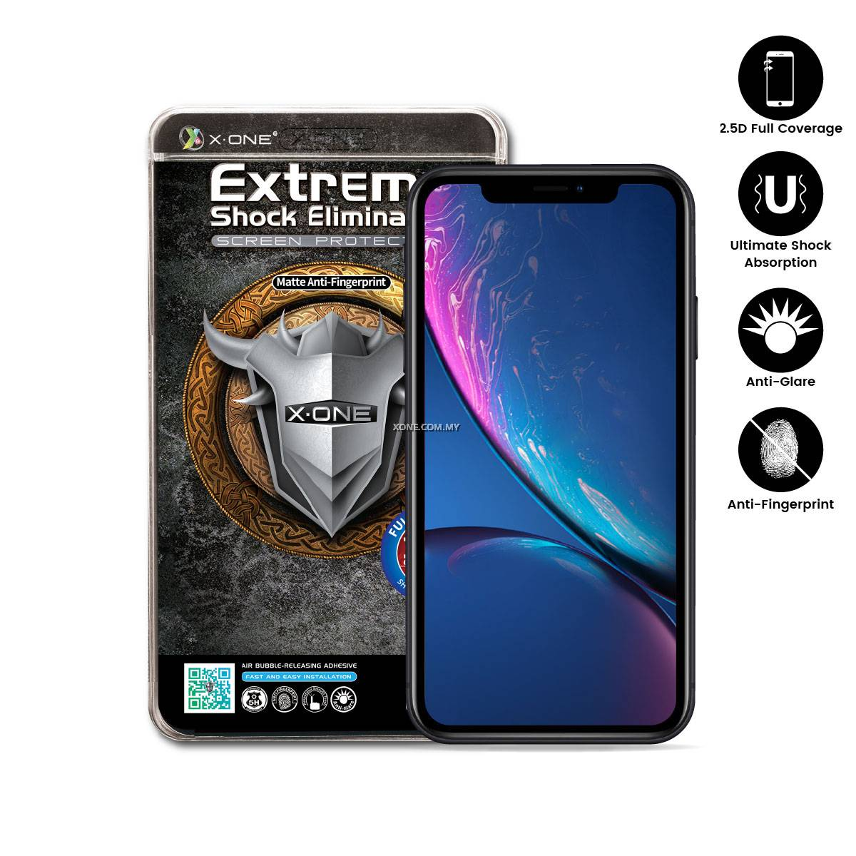 Apple Iphone Xr 6 1 Quot X One Full Coverage Matte Film Screen Protector Authorised X One 174 Distributor Malaysia