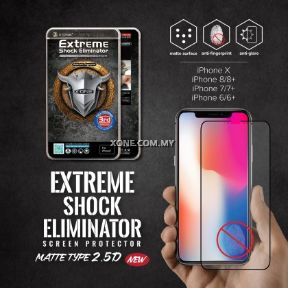 """Apple iPhone XS Max ( 6.5"""" ) X-One Full Coverage Matte Film Screen Protector ( Black )"""
