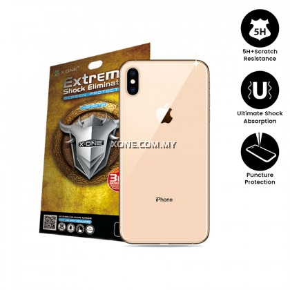 "Apple iPhone XS Max ( 6.5"" ) Extreme Shock Eliminator Back Glass Protector"