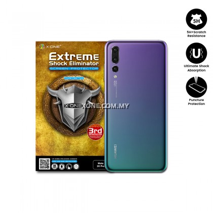 Huawei P20 Pro X-One Extreme Shock Eliminator Back Glass Protector