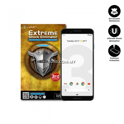 Google Pixel 3 X-One Extreme Shock Eliminator Screen Protector