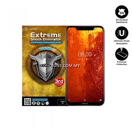 Nokia 8.1 X-One Extreme Shock Eliminator Screen Protector