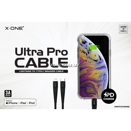 X-One® Ultra Pro 3A Cable [ PD support ] ( Type-C to Lightning )