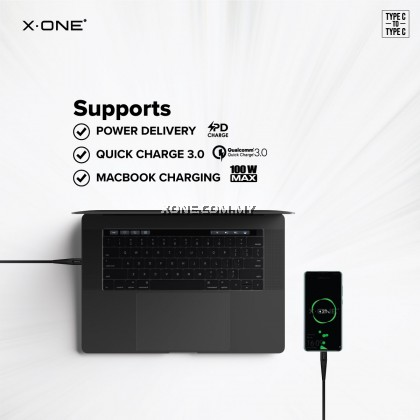 X-One® Ultra Pro 5A Cable [ PD support + QC 3.0 ] ( Type-C to Type-C )