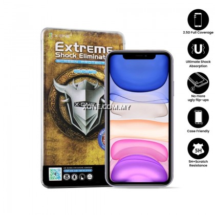 "Apple iPhone 11 ( 6.1"" ) X-One Full Coverage Extreme Shock Eliminator Screen Protector ( Clear )"