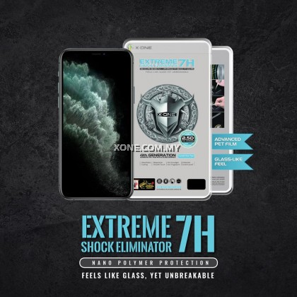 "Apple iPhone XS ( 5.8"" ) X-One Extreme Shock Eliminator 7H ( 4th Generation ) Full Coverage Screen Protector"