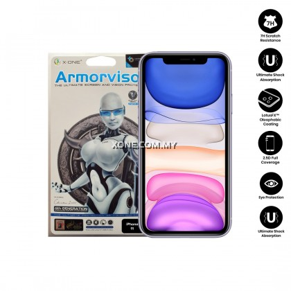 "Apple iPhone 11 ( 6.1"" ) X-One Armorvisor 7H Anti Blue Light Eye Protection Screen Protector (4TH - GEN)"