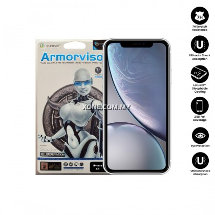 "Apple iPhone XR ( 6.1"" ) X-One Armorvisor 7H Anti Blue Light Eye Protection Screen Protector (4TH - GEN)"