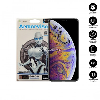 "Apple iPhone XS MAX ( 6.5"" ) X-One Armorvisor 7H Anti Blue Light Eye Protection Screen Protector (4TH - GEN)"