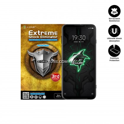 Xiaomi Black Shark 3 X-One Extreme Shock Eliminator ( 3rd Generation ) Clear Screen Protector