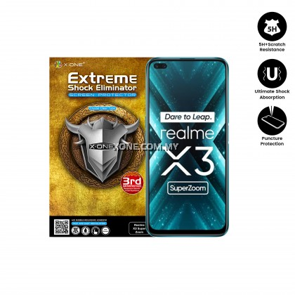 Oppo Realme X3 Super Zoom X-One Extreme Shock Eliminator ( 3rd Generation ) Clear Screen Protector