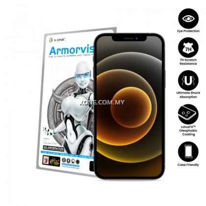 Apple iPhone 12 Mini / 12 / 12 Pro / 12 Pro Max X-One Armorvisor 7H ( 4th Gen. ) Anti Blue Light Eye Protection Screen Protector