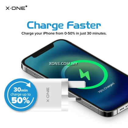 X-One Power Charger Solo Apple 20W USB-C with Power Delivery Fast Charge Adapter