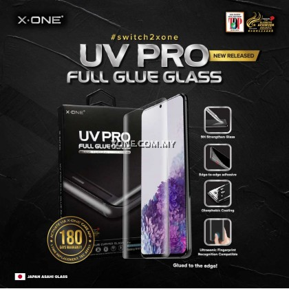 Samsung Galaxy S21 Ultra X.One UV Pro Full Glue Glass Clear Tempered Glass Screen Protector