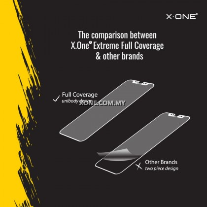 Apple iPhone 13 Mini ( 5.4'' ) X-One Full Coverage Extreme Shock Eliminator Screen Protector ( Clear )