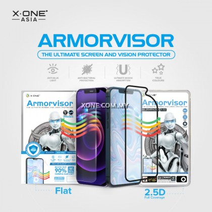 iPhone 13 Pro / 13 ( 6.1'' ) X-One Armorvisor 7H ( 4th Generation ) Full Coverage Anti Blue Light Screen Protector
