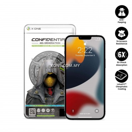 Apple iPhone 13 Pro Max / 13 Pro / 13 Confidential 7H ( 4th Gen. ) Privacy Screen Protector ( Full Coverage )