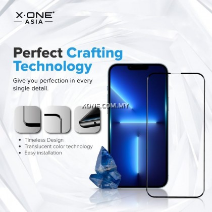 Apple iPhone 13 Pro Max / 13 Pro / 13 X.One Gorilla Sapphire Series ( Clear Type ) Full Coverage Tempered Glass